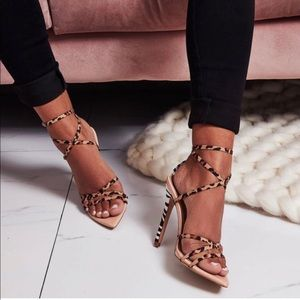 ef36f8bc75d6 EGO Shoes   Leopard Zebra Barely There Strappy Heel Size Us 8   Poshmark